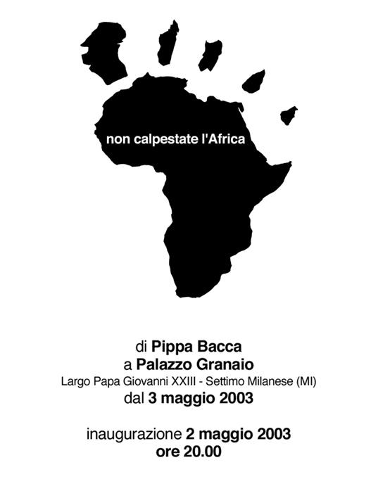 Non calpestate l'Africa